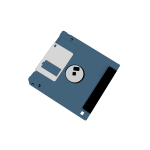 Computer diskette vector clip art