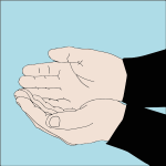 Hand signal for divers