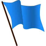 Blue Flag Waving Vector