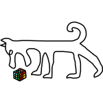 Dog and Rubik s Cube by Rones