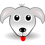 Funny dog head vector drawing
