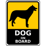 Dog on board sign vector image