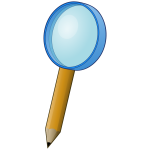 Magnifying pencil vector image