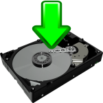 Download to HDD icon vector image
