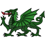Stylised dragon