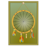 Dream catcher device in color vector illustration