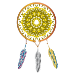 Native American dream catcher vector drawing