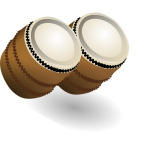 A pair of bongos vector illustration
