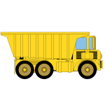 Vector illustration of large mining truck