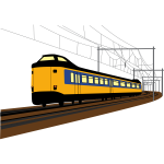 Yellow train vector graphics