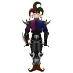 Creepy jester image