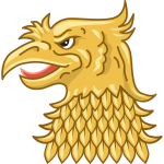 Golden eagle's head