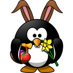 Bunny penguin vector illustration