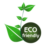Eco friendly tag vector drawing