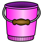 Vector image of pink bucket