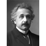 Einstein at younger age vector portrait