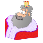 Santa the King vector graphics