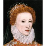 Queen Elizabeth I profile painting in color vector image