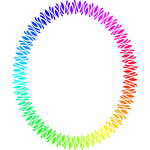 Elliptical Frame Rainbow Color