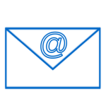 Blue e-mail sign