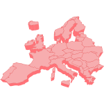 Vector clip art of 3D map of Europe