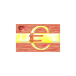 Spanish flag with Euro sign vector image
