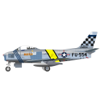 North American F-86 Sabre airplane vector drawing