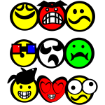 Three sets of joint emoticons