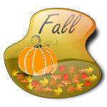 Pumpkin in fall vector image