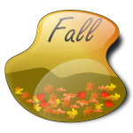 Fall landscape in liquid frame vector image