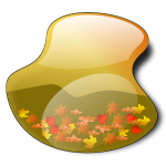 Fall landscape vector illustration