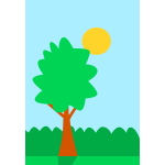 Tree simple cartoon drawing