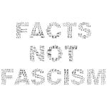 Facts Not Fascism Grayscale