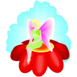 Pixie on a flower