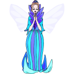 Blue praying fairy