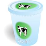 Yoghurt cup with label