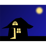 Vector image of fairytale house