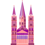 Pink church image