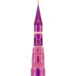 Tall pink church