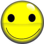 2D smiley face vector image