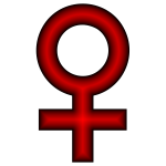 Red female symbol