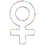 Female Symbol Fractal Outline