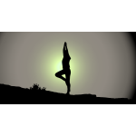 Female Yoga Pose Silhouette Sunrise
