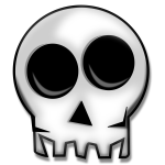 Top half of human skull vector image
