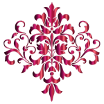 Festive Damask Design 2 No Background