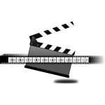 Clapperboard countdown vector illustration