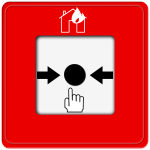Drawing of fire alarm push button