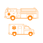 Emergency service vehicle vector image