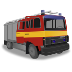 Fire truck vector drawing