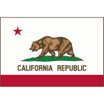 Flag of Calfornia Cook  v11 Border Thick